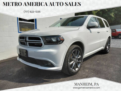 2017 Dodge Durango for sale at METRO AMERICA AUTO SALES of Manheim in Manheim PA