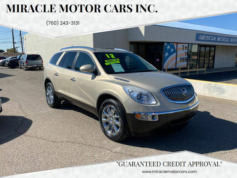 2012 Buick Enclave for sale at Miracle Motor Cars Inc. in Victorville CA