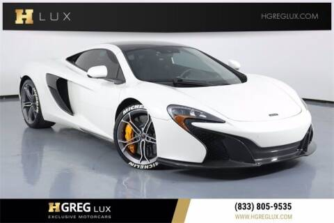 2015 McLaren 650S Coupe for sale at HGREG LUX EXCLUSIVE MOTORCARS in Pompano Beach FL