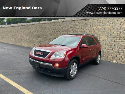 2008 GMC Acadia for sale at New England Cars in Attleboro MA