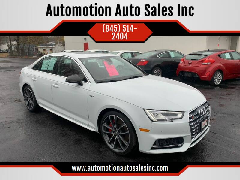 2018 Audi S4 for sale at Automotion Auto Sales Inc in Kingston NY