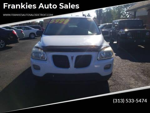 2008 Pontiac Montana for sale at Frankies Auto Sales in Detroit MI