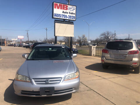 2002 Honda Accord for sale at MB Auto Sales in Oklahoma City OK