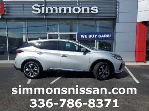2019 Nissan Murano for sale at SIMMONS NISSAN INC in Mount Airy NC