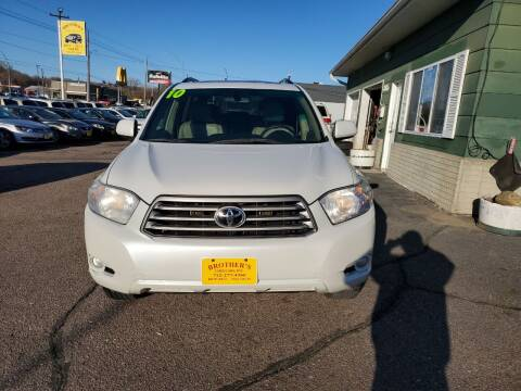 2010 Toyota Highlander for sale at Brothers Used Cars Inc in Sioux City IA