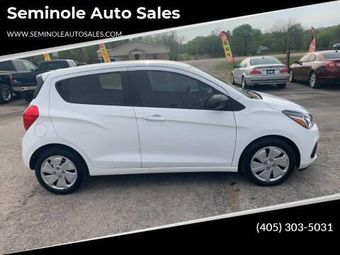 2018 Chevrolet Spark for sale at Seminole Auto Sales in Seminole OK
