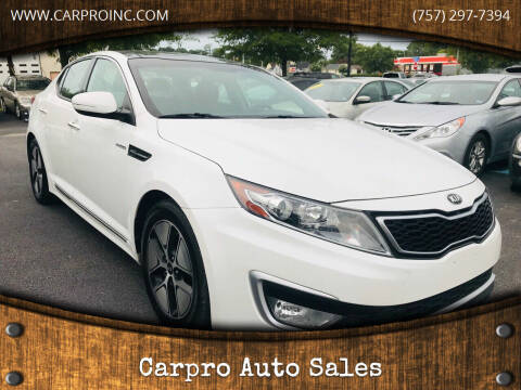 2013 Kia Optima Hybrid for sale at Carpro Auto Sales in Chesapeake VA