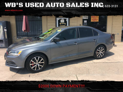 2016 Volkswagen Jetta for sale at WB'S USED AUTO SALES INC in Houston TX