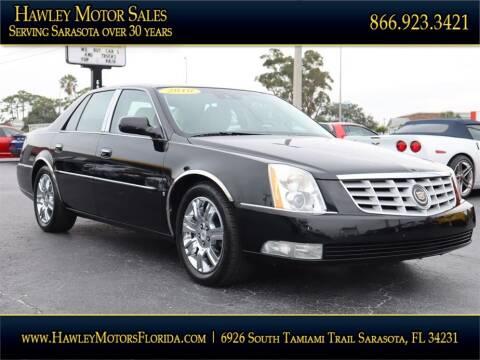 2010 Cadillac DTS for sale at Hawley Motor Sales in Sarasota FL