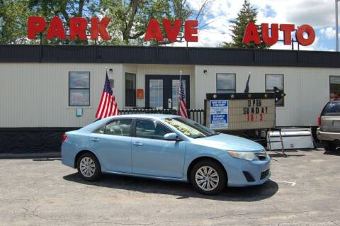 2012 Toyota Camry for sale at Park Ave Auto Inc. in Worcester MA