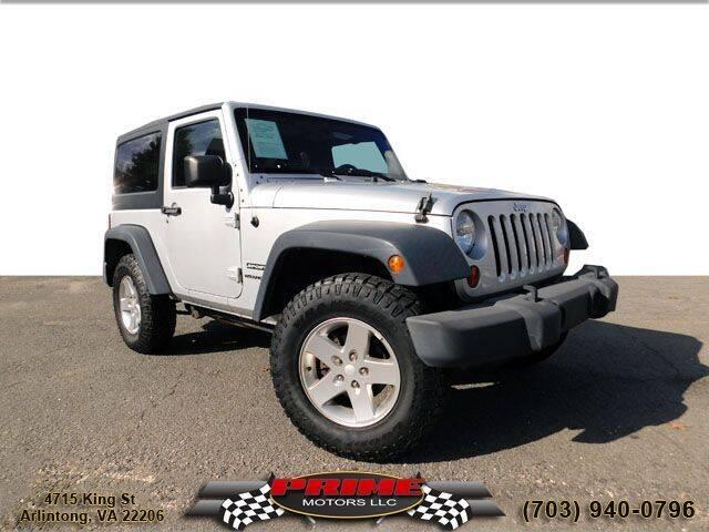 2012 Jeep Wrangler for sale at PRIME MOTORS LLC in Arlington VA