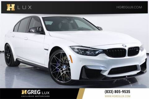 2018 BMW M3 for sale at HGREG LUX EXCLUSIVE MOTORCARS in Pompano Beach FL