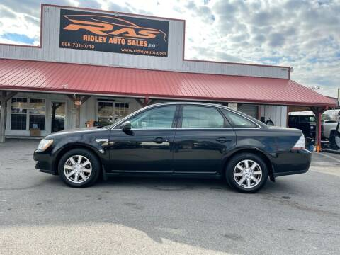 2008 Ford Taurus for sale at Ridley Auto Sales, Inc. in White Pine TN