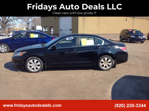 2008 Honda Accord for sale at Fridays Auto Deals LLC in Oshkosh WI