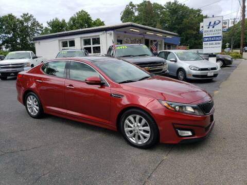 2014 Kia Optima for sale at Highlands Auto Gallery in Braintree MA
