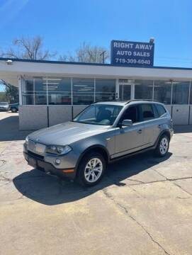 2009 BMW X3 for sale at Right Away Auto Sales in Colorado Springs CO