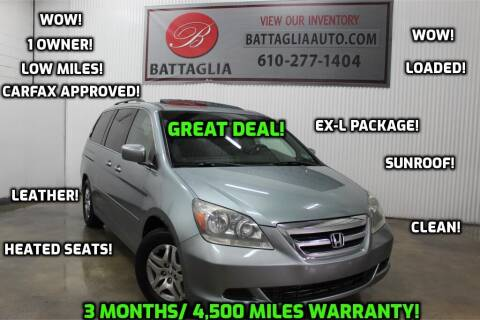 2006 Honda Odyssey for sale at Battaglia Auto Sales in Plymouth Meeting PA