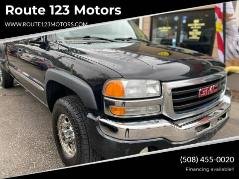 2003 GMC Sierra 1500HD for sale at Route 123 Motors in Norton MA