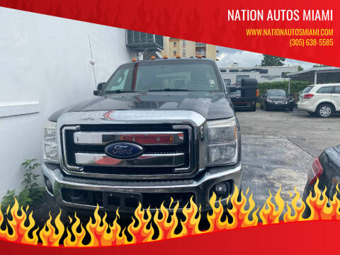2015 Ford F-350 Super Duty for sale at Nation Autos Miami in Hialeah FL