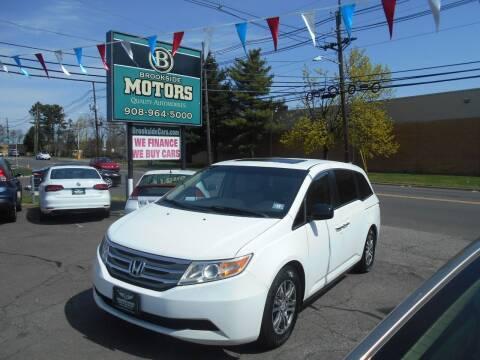 2012 Honda Odyssey for sale at Brookside Motors in Union NJ