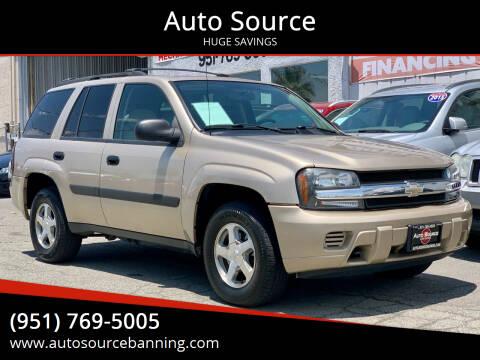 2005 Chevrolet TrailBlazer for sale at Auto Source in Banning CA