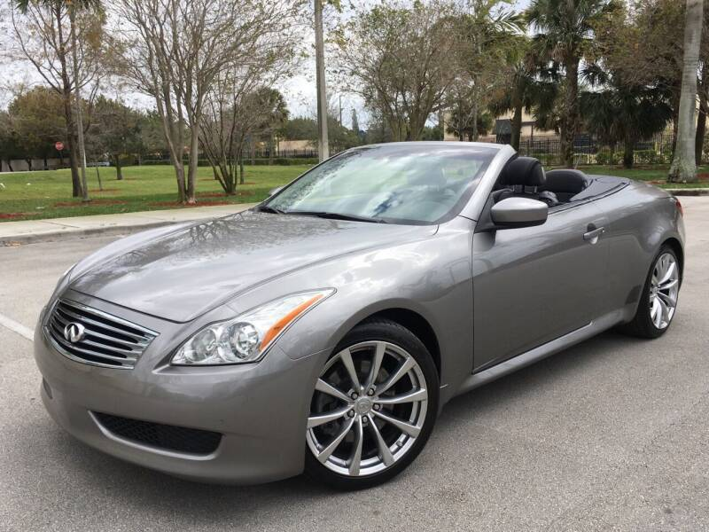 2009 Infiniti G37 Convertible for sale at FIRST FLORIDA MOTOR SPORTS in Pompano Beach FL