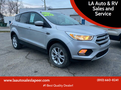 2017 Ford Escape for sale at LA Auto & RV Sales and Service in Lapeer MI
