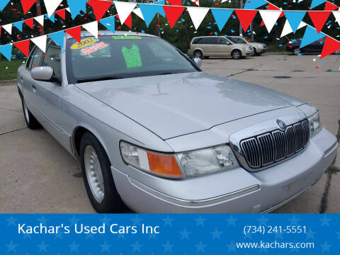 2002 Mercury Grand Marquis for sale at Kachar's Used Cars Inc in Monroe MI