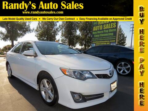 2014 Toyota Camry for sale at Randy's Auto Sales in Ontario CA