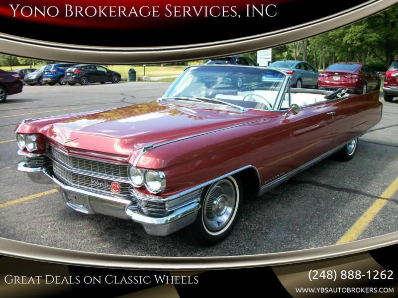 1963 Cadillac Eldorado Biarritz for sale at Yono Brokerage Services, INC in Farmington MI