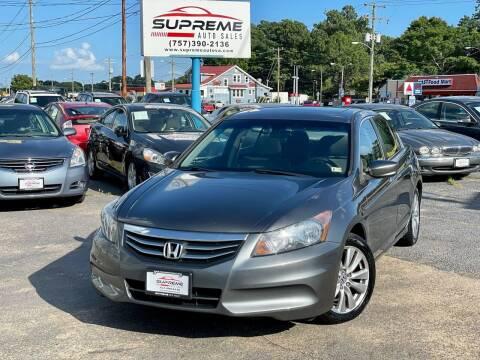 2012 Honda Accord for sale at Supreme Auto Sales in Chesapeake VA