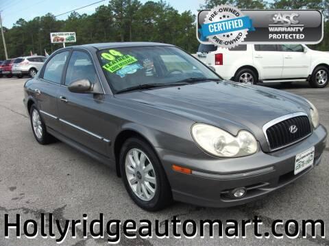 2004 Hyundai Sonata for sale at Holly Ridge Auto Mart in Holly Ridge NC