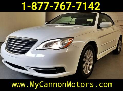 2013 Chrysler 200 Convertible for sale at Cannon Motors in Silverdale PA