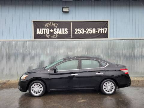 2013 Nissan Sentra for sale at Austin's Auto Sales in Edgewood WA