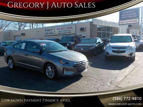 2019 Hyundai Elantra for sale at Gregory J Auto Sales in Roseville MI