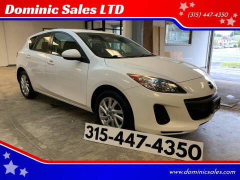 2013 Mazda MAZDA3 for sale at Dominic Sales LTD in Syracuse NY