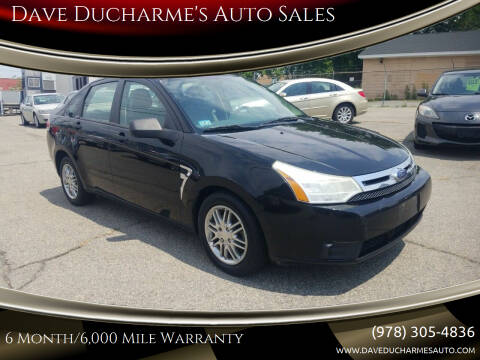 2008 Ford Focus for sale at Dave Ducharme's Auto Sales in Lowell MA