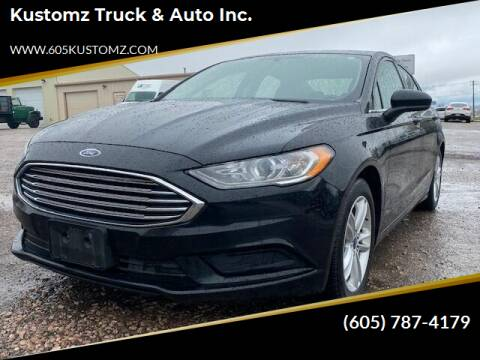 2018 Ford Fusion for sale at Kustomz Truck & Auto Inc. in Rapid City SD