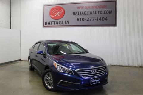2016 Hyundai Sonata for sale at Battaglia Auto Sales in Plymouth Meeting PA