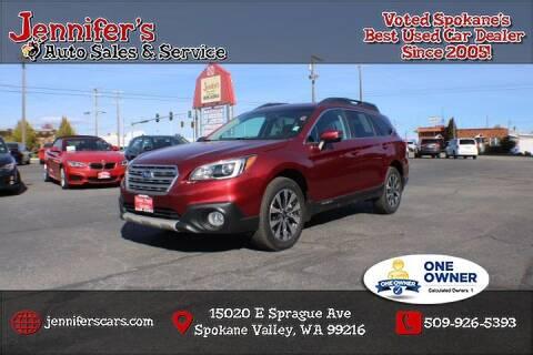 2015 Subaru Outback for sale at Jennifer's Auto Sales in Spokane Valley WA