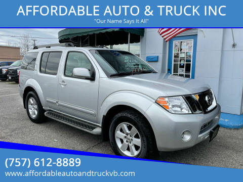 2010 Nissan Pathfinder for sale at AFFORDABLE AUTO & TRUCK INC in Virginia Beach VA