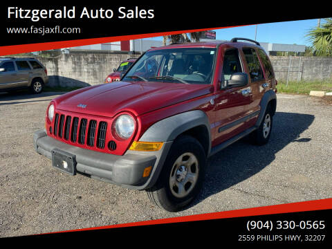 2006 Jeep Liberty for sale at Fitzgerald Auto Sales in Jacksonville FL