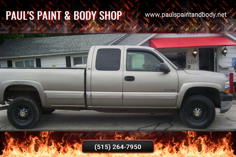 2002 Chevrolet Silverado 2500HD for sale at PAUL'S PAINT & BODY SHOP in Des Moines IA