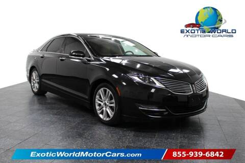 2014 Lincoln MKZ Hybrid for sale at Exotic World Motor Cars in Addison TX