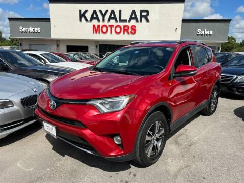 2016 Toyota RAV4 for sale at KAYALAR MOTORS in Houston TX