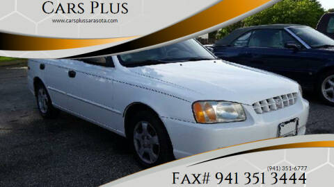2001 Hyundai Accent for sale at Cars Plus in Sarasota FL