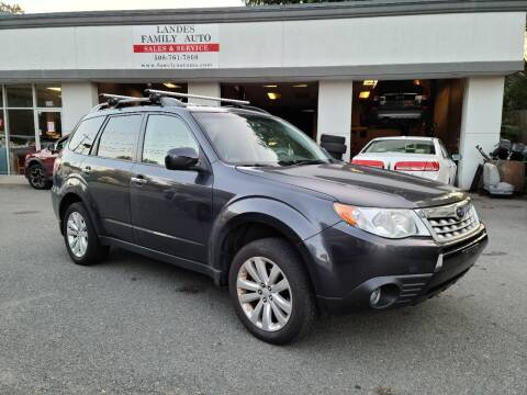 2013 Subaru Forester for sale at Landes Family Auto Sales in Attleboro MA
