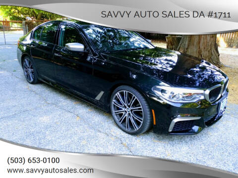2018 BMW 5 Series for sale at SAVVY AUTO SALES DA #1711 in Portland OR