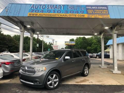 2012 Dodge Durango for sale at Auto Smart Charlotte in Charlotte NC
