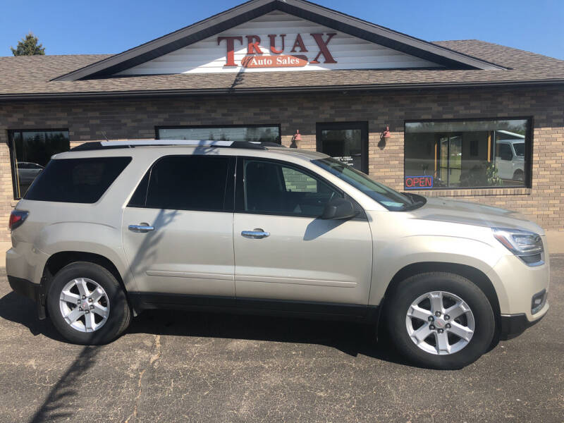 2015 GMC Acadia for sale at Truax Auto Sales Inc. in Deer Creek MN